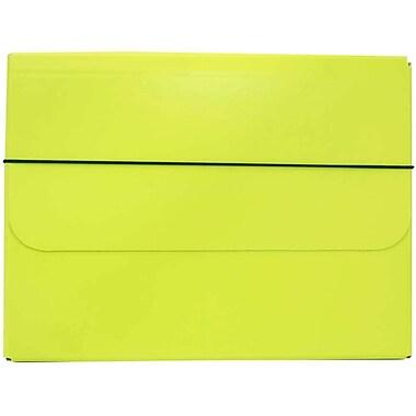 JAM PaperMD – Étui de transport à portfolio solide avec fermeture à élastique, 10 x 13 1/4 x 1 1/4 po, vert lime, paquet de 2