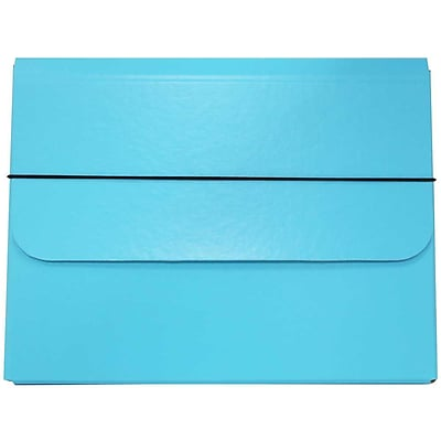 JAM Paper® Strong Thick Portfolio Carrying Case with Elastic Band Closure - 10