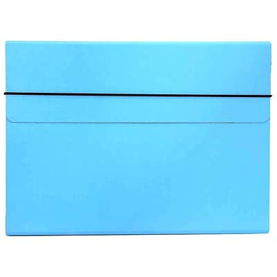 JAM Paper® Thin Portfolio Carrying Case with Elastic Closure, 9.25 x 12.5, Sky Blue, Sold Individually (154528541)