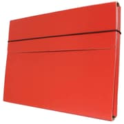 "JAM Paper® Strong Thin Portfolio Carrying Case with Elastic Band Closure - 9 1/4"" x 1/2"" x 12 1/2"" - Red - Sold Individually"