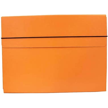 JAM Paper® Thin Portfolio Carrying Case with Elastic Closure, 9.25 x 12.5, Orange, 2/Pack (154528544g)