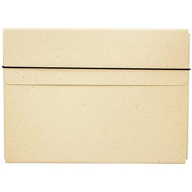 JAM Paper® Thin Portfolio Carrying Case with Elastic Closure, 9.25 x 12.5, Natural Kraft, 2/Pack (154528546g)