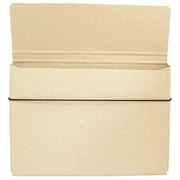 "JAM Paper® Strong Thin Portfolio Carrying Case with Elastic Band Closure - 9 1/4"" x 1/2"" x 12 1/2"" - Natural Kraft"