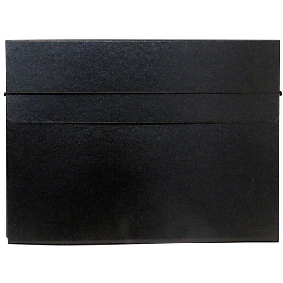 JAM Paper® Thin Portfolio Carrying Case with Elastic Closure, 9.25 x 12.5, Black, Sold Individually (154528547)