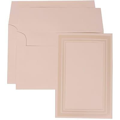 JAM Paper® Wedding Invitation Set, Large, 6 5/8 x 10, White with White Envelopes, 50/pack (309225016)