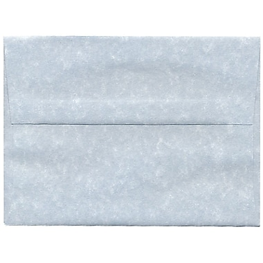 JAM Paper® A6 Invitation Envelopes, 4.75 x 6.5, Parchment Blue Recycled, 250/Pack (10296H)