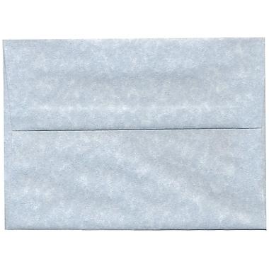 JAM PaperMD – Enveloppes A7 en papier recyclé, papier parchemin bleu, 250/paquet