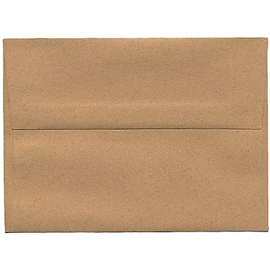 JAM Paper® A6 Invitation Envelopes, 4.75 x 6.5, Ginger Brown Recycled, 250/Pack (11179H)