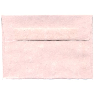 JAM Paper® 4bar A1 Envelopes, 3.63 x 5 1/8, Parchment Pink Recycled, 250/Pack (123456H)