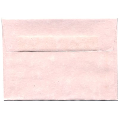 JAM Paper® 4bar A1 Envelopes, 3 5/8 x 5 1/8, Parchment Pink Recycled, 50/pack (123456I)