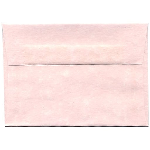 JAM Paper® 4Bar A1 Parchment Invitation Envelopes, 3.625 x 5.125, Pink Recycled, 50/Pack (123456I)