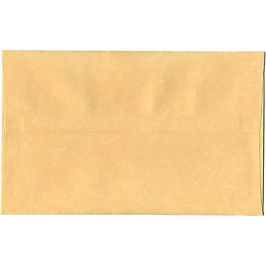 JAM Paper® A10 Invitation Envelopes, 6 x 9.5, Parchment Antique Gold Yellow Recycled, 250/Pack (12514H)