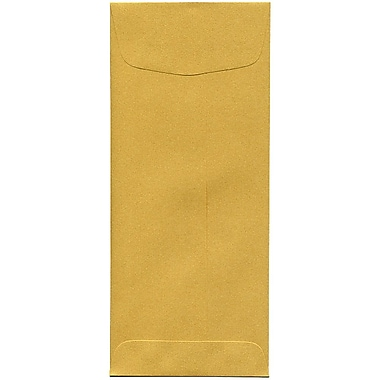 JAM Paper® #10 Policy Envelopes, 4 1/8 x 9.5, Stardream Metallic Gold, 500/Pack (1261602H)