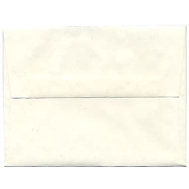 JAM Paper® A2 Invitation Envelopes, 4 3/8 x 5 3/4, Parchment White Recycled, 250/box (12664H)