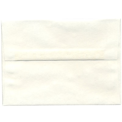 JAM Paper® A7 Invitation Envelopes, 5.25 x 7.25, Parchment White Recycled, 250/box (12672H)