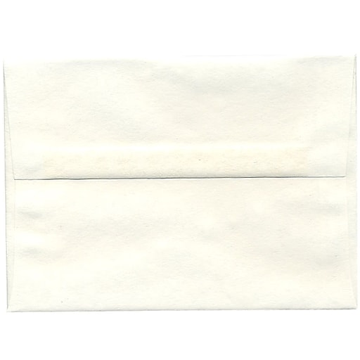 JAM Paper® A7 Parchment Invitation Envelopes, 5.25 x 7.25, White Recycled, 50/Pack (12672I)