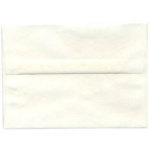 JAM Paper® A7 Parchment Invitation Envelopes, 5.25 x 7.25, White Recycled, Bulk 250/Box (12672H)