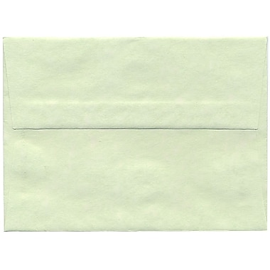 JAM Paper® A6 Invitation Envelopes, 4.75 x 6.5, Parchment Green Recycled, 250/Pack (13278H)