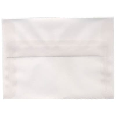 JAM Paper® A6 Invitation Envelopes, 4.75 x 6.5, Clear Translucent Vellum, 250/box (13756H)
