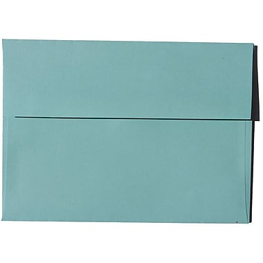 JAM Paper – Enveloppes Brite Hue A7 en papier recyclé, aqua, 250/paquet