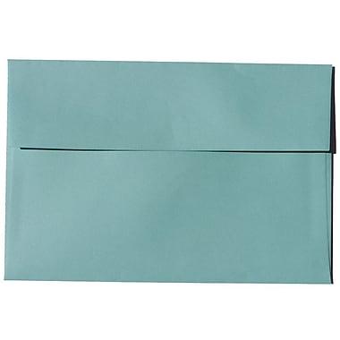 JAM Paper – Enveloppes BriteHue A8 en papier recyclé, bleu aqua, 250/paquet