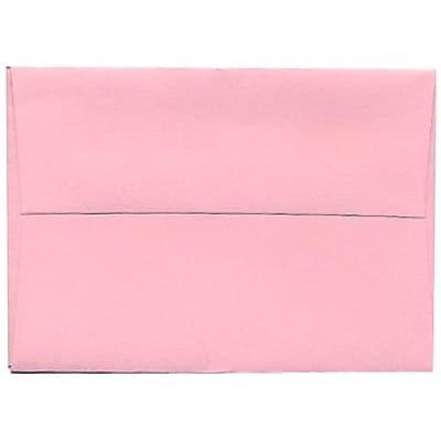 JAM Paper® 4bar A1 Envelopes, 3 5/8 x 5 1/8, Baby Pink, 250/box (155621H)