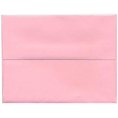 JAM Paper® A2 Invitation Envelopes, 4.38 x 5.75, Brite Hue Baby Pink, 250/Pack (155623H)