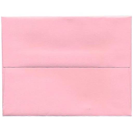 JAM Paper® A2 Invitation Envelopes, 4.375 x 5.75, Baby Pink, 50/Pack (155623I)