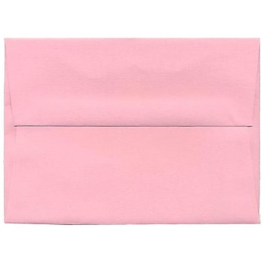 JAM Paper® A6 Invitation Envelopes, 4.75 x 6.5, Brite Hue Baby Pink, 50/pack (155625I)