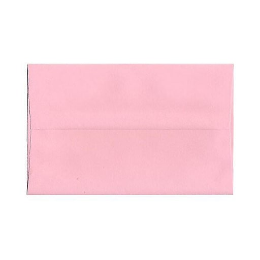 JAM Paper® A10 Invitation Envelopes, 6 x 9.5, Baby Pink, 50/Pack (155688I)