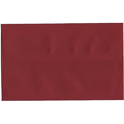 JAM Paper® A10 Invitation Envelopes, 6 x 9.5, Dark Red, 50/pack (157468I)