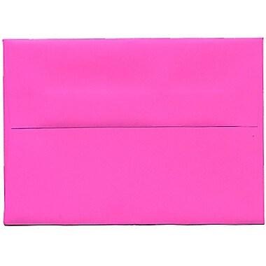 JAM Paper® 4bar A1 Envelopes, 3.63 x 5 1/8, Brite Hue Ultra Fuchsia Pink, 250/Pack (15790H)