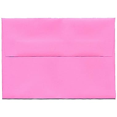 JAM Paper® 4bar A1 Envelopes, 3.63 x 5 1/8, Brite Hue Ultra Pink, 250/Pack (15792H)