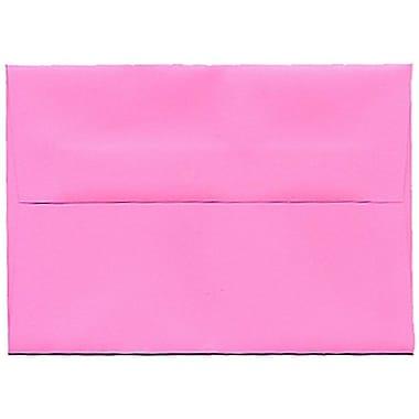 JAM Paper – Enveloppes BriteHue A1 en papier recyclé, rose vif ultra, 250/paquet