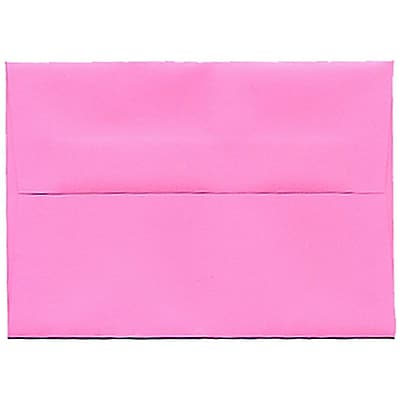 JAM Paper® 4bar A1 Envelopes, 3 5/8 x 5 1/8, Brite Hue Ultra Pink, 250/box (15792H)