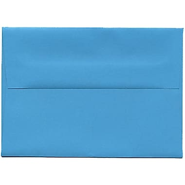 JAM Paper® 4bar A1 Envelopes, 3.63 x 5 1/8, Brite Hue Blue Recycled, 250/Pack (15805H)