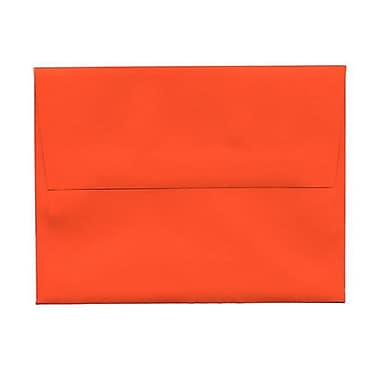 JAM Paper® 4bar A1 Envelopes, 3.63 x 5 1/8, Brite Hue Orange Recycled, 250/Pack (15808H)