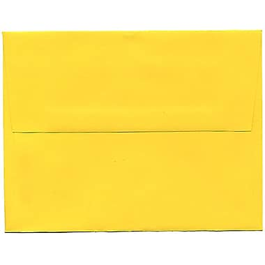 JAM Paper® A2 Invitation Envelopes, 4.38 x 5.75, Brite Hue Yellow Recycled, 250/Pack (15839H)