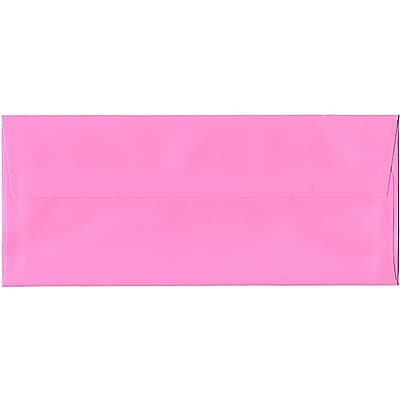 JAM Paper® #10 Business Envelopes, 4 1/8 x 9 1/2, Brite Hue Ultra Pink, 100/Pack (15851C)