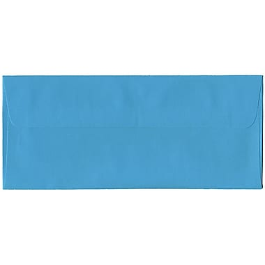 JAM Paper® #10 Business Envelopes, 4 1/8 x 9.5, Brite Hue Blue Recycled, 500/Pack (15861H)