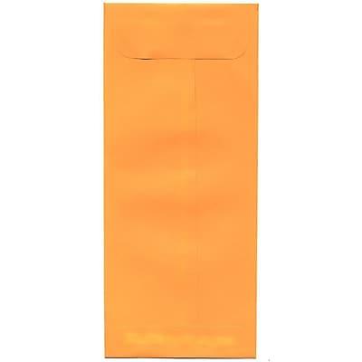 JAM Paper® #10 Policy Envelopes, 4 1/8 x 9 1/2, Brite Hue Ultra Orange, 50/pack (15867I)