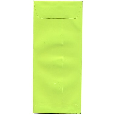 JAM Paper® #10 Policy Envelopes, 4 1/8 x 9.5, Brite Hue Ultra Lime, 500/Pack (15870H)