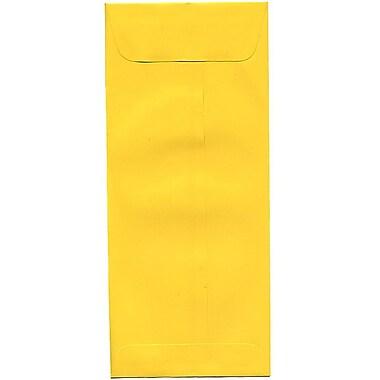 JAM Paper – Enveloppes recyclées n° 10 (4,13 x 9,5 po), jaune, 500/bte
