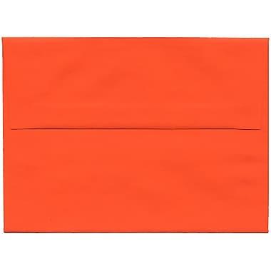JAM Paper® A6 Invitation Envelopes, 4.75 x 6.5, Brite Hue Orange Recycled, 250/Pack (15905H)