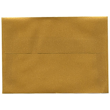 JAM Paper® 4bar A1 Envelopes, 3.63 x 5 1/8, Gold Translucent Vellum, 50/Pack (1591606I)