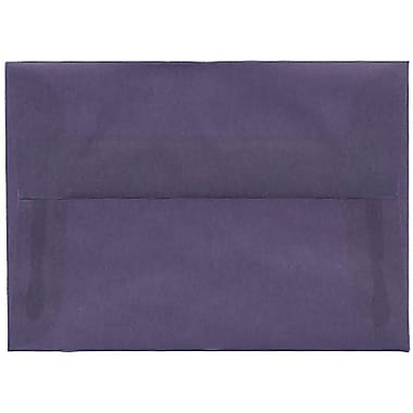 JAM Paper® 4bar A1 Envelopes, 3.63 x 5 1/8, Translucent Vellum Wisteria Purple, 50/Pack (1591610I)