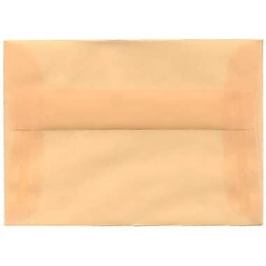 JAM Paper® 4bar A1 Envelopes, 3.63 x 5 1/8, Translucent Vellum Spring Ochre Ivory, 50/Pack (1591612I)