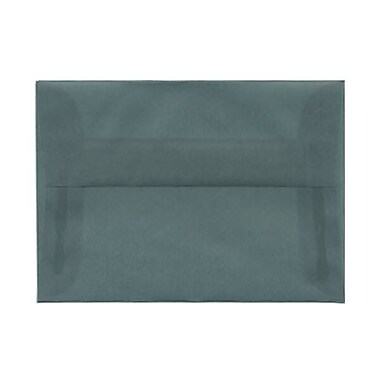 JAM PaperMD – Enveloppes translucides A1, bleu océan, 50/paquet