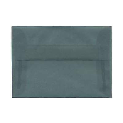 JAM Paper® 4bar A1 Envelopes, 3 5/8 x 5 1/8, Translucent Vellum Ocean Blue, 250/box (1591614H)