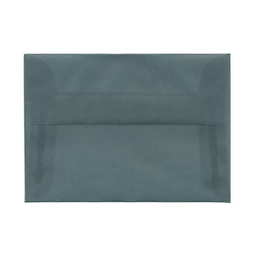 JAM Paper® 4Bar A1 Translucent Vellum Invitation Envelopes, 3.625 x 5.125, Ocean Blue, Bulk 250/Box (1591614H)